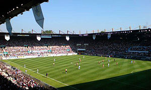 Stade de la Meinau - RC Strasbourg taking on Olympique de Marseille at La Meinau in the opening game of the 2007/8 Ligue 1 season