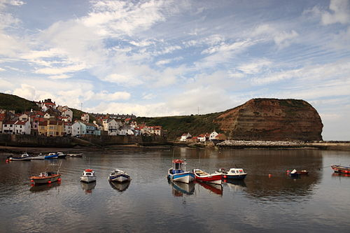 Staithes UK - village and harbor