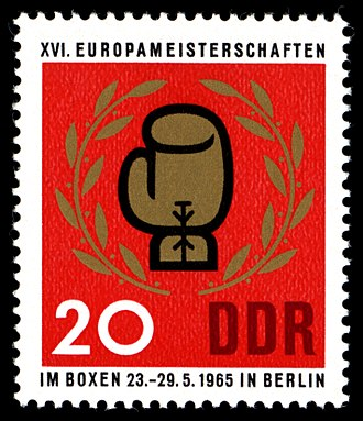 1965 European Amateur Boxing Championships - An East German stamp dedicated to the 1965 European Amateur Boxing Championships