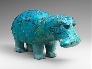 William the Faience Hippopotamus - Image: Standing Hippopotamus MET DP248993