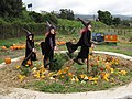 Starr-111004-0580-Cucurbita pepo-pumpkin and gourd display with witches-Kula Country Farms-Maui (24491548323).jpg