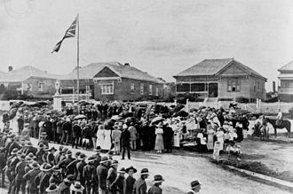 Indooroopilly, Queensland - Unveiling of War Memorial, Indooroopilly, 1921