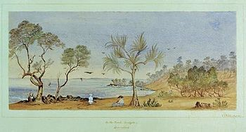StateLibQld 2 305611 On the Beach, Sandgate, Queensland , an image of a watercolour painting.jpg