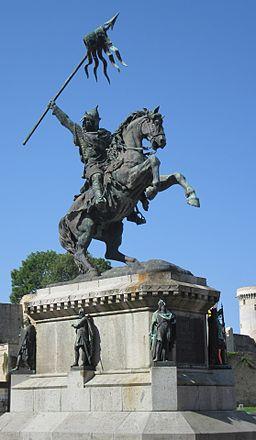 Statue d'Dgilliaume lé Contchéthant à Falaise 01