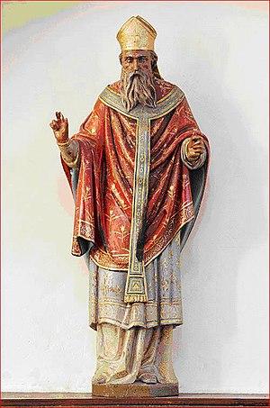Artemps - Image: Statue de St Pierre à Artemps