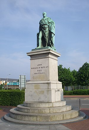 John Evan Thomas - Second Marquess of Bute, 1853, in Callaghan Square, Cardiff