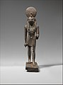 Statuette of Horus, lord of Sekhem (Letopolis) MET DP261433.jpg