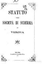 Statuto della società di scherma in Verona