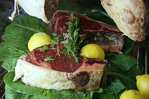 Cuisine of the province of Valladolid - Steak.