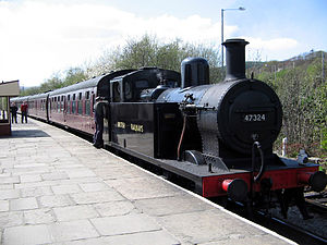 LMS Fowler Class 3F - Preserved No. 47324 on the East Lancashire Railway