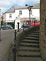 Steps around the clock tower, Cinderford - geograph.org.uk - 728721.jpg