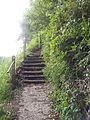 Steps to footpath on Blacksmith's Lane, Wadhurst.jpg