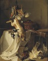 Still Life with a Rifle, Hare and Bird ( Fire ) (Jean-Baptiste Oudry) - Nationalmuseum - 17874.tif