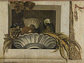 Stilleven een schaal met maïs, artisjok, druiven en een papegaai Rijksmuseum SK-A-4254-2.jpeg