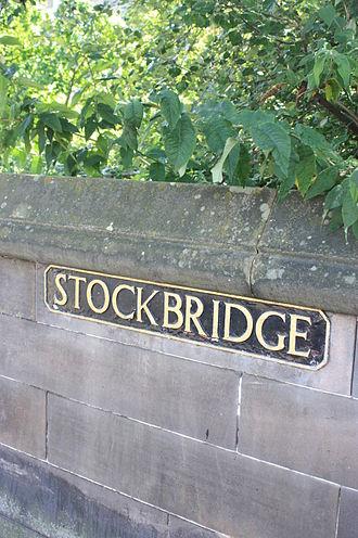 Stockbridge, Edinburgh - Stockbridge road sign, Edinburgh