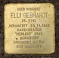 Stolperstein Eschenallee 20 (Westend) Elli Gebhardt.jpg