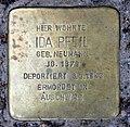 Stolperstein Ibsenstr 53 (Prenz) Ida Pfeil.jpg