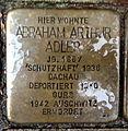 Stolperstein Karlsruhe Abraham Arthur Adler Gartenstr 5 (fcm).jpg