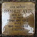 Stolperstein Karlsruhe Brunhilde Adler Gartenstr 5 (fcm).jpg