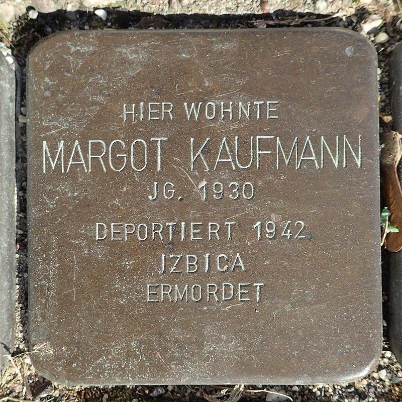 Stolperstein Rheurdt Rathausstraße 70 Margot Kaufmann