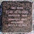 Stolperstein dedicated to Isak Kermann (cropped).jpg