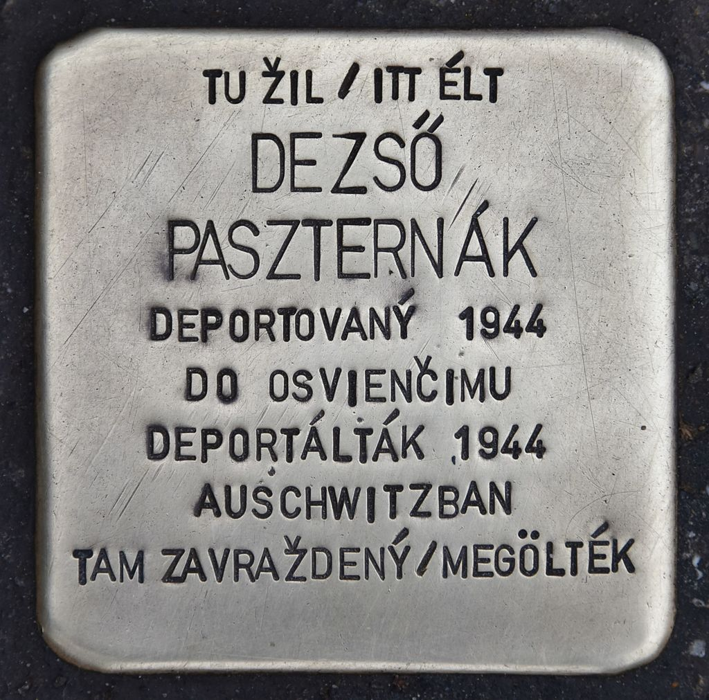 Stolperstein für Dezsö Paszternak.JPG