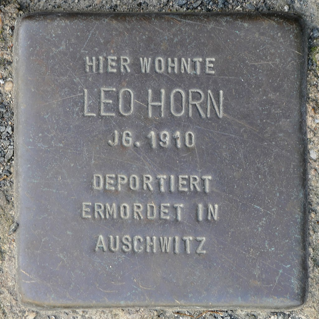 Stolpersteine Kommern, Leo Horn (Kölner Straße 11).jpg