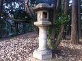 Stone lantern - Shinjuku Gyoen - Dec 2014.jpg