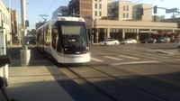 File:Streetcar 803 at Crossroads Stop.webm