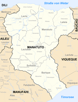 Subdistricts of Manatuto