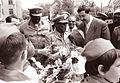 Sudanski premier Abud ob prihodu v Ljubljano 1960.jpg