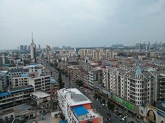 Suizhou - Suizhou Qingnian Road Lieshan Avenue intersection, eastern view