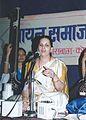 Sukhada Kane in concert, 'Nav Kalyan Rang', Deval Club, Kolhapur, 2002.jpg
