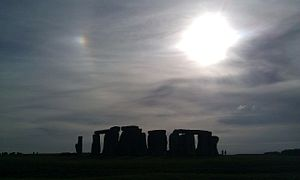 Sun dog - Left-hand sun dog at Stonehenge
