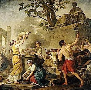 Parilia - Festa di Pales, o L'estate (1783), a reimagining of the Festival of Pales by Joseph-Benoît Suvée