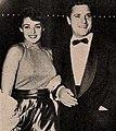 Suzan Ball with Dick Long, 1955.jpg