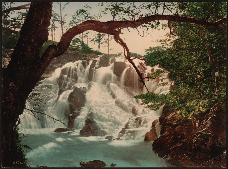 Swallow Falls II, Fairy Glen, Bettws-y-Coed (i.e. Betws), Wales-LCCN2001703438
