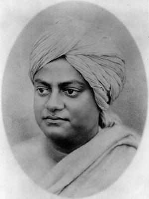Atmano mokshartham jagat hitaya cha - Swami Vivekananda in Kolkata in February 1897. In the same year he founded Ramakrishna Mission.