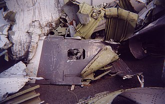 Swissair Flight 111 - Cargo door and other debris recovered