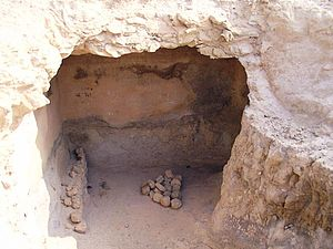 Genizah - A possible geniza at Masada, eastern Israel
