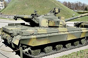 T-64 - The T-64 has a characteristic exhaust vent in the rear