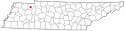 Location of Paris, Tennessee