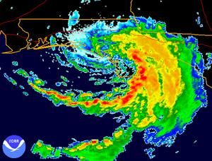 Tropical Storm Beryl (1994) - NEXRAD imagery of Tropical Storm Beryl making landfall in Florida on August 16