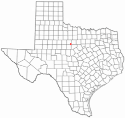 Location of Moran, Texas