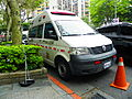 Taipei City Fire Department VW T5 Ambulance Parked in Section 5, Minsheng East Road 20140419a.jpg