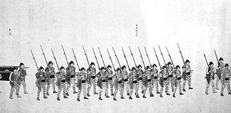 Second Chōshū expedition - Image: Takadahan warriors Second Choshu Expedition