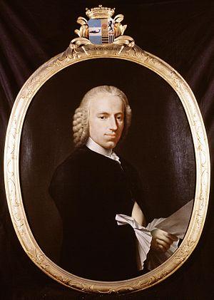 Gerrit Willem van Oosten de Bruyn - Oosten de Bruyn's portrait was painted by Tako Hajo Jelgersma for the Hofje van Noblet in 1764