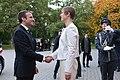 Tallinn Digital Summit. Meeting of Estonian President Kersti Kaljulaid and French President Emmanuel Macron (37344365012).jpg