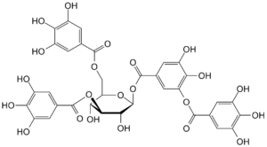 Tannin - Tannic acid, a type of tannin