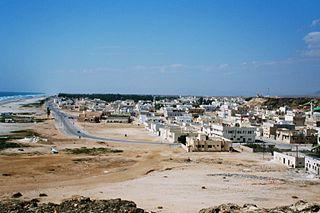 Taqah Town in Dhofar Governorate, Oman